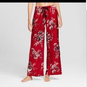 Satin floral lounge pants